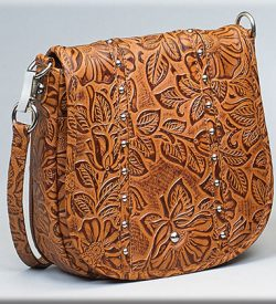 Gun Toten Mamas Simple Bling In Tooled Leather